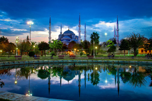 turkey-mosque-at-dusk